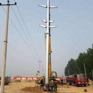 河南省 10kv電力鋼桿 35kv電力鋼桿