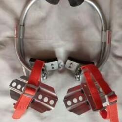 定制 电线杆脚扣爬杆器,新款电工脚扣,水泥杆、电信路灯杆铁鞋加厚