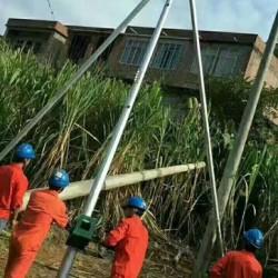 手摇立杆机8~15米三角架立杆 铝合金三角架 人字抱杆电线杆起杆机