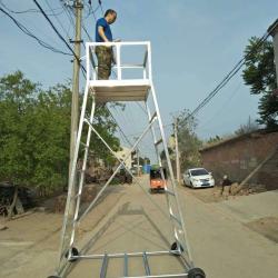 定制 铁路专用检测梯车 绝缘维修梯车 接触网检修梯车 铁路接触网工具