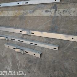 横担抱箍电力金具铁附件山东厂家加工定做各种规格的横担抱箍M铁
